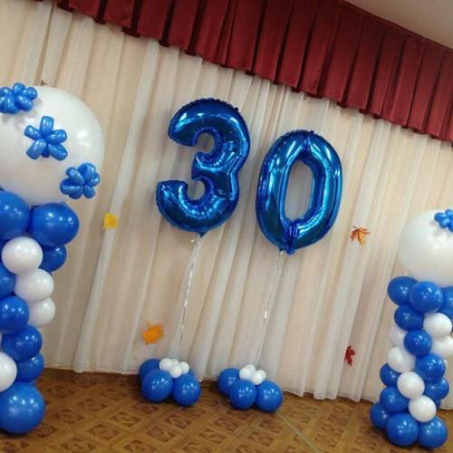 фольгированные шары - цифры 30